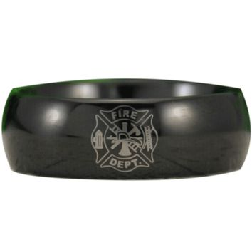 Black Tungsten Fire Fighter Ring