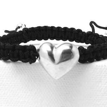 Heart Macrame Bracelet by GirlBurkeStudios on Etsy