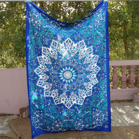 Ocean Blues Bohemian Tapestry Boho Decor Wall Hanging Table Cloth - Free Shipping