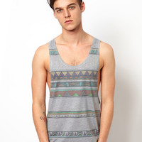 ASOS Vest With Tribal Print