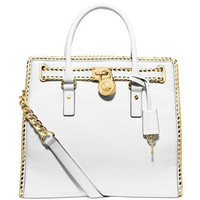 Michael Michael Kors Whipped Leather Hamilton North South Tote
