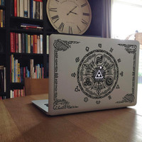 "Zelda Gate of Time inspired vinyl Decal for Laptop, Notebook, Apple MacBook Pro Air 11"", 13"" or 15"""