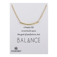 Simple Circular Tube Card Alloy Clavicle Pendant Necklace  171208