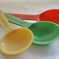 Retro Red, Green, and Yellow Teaspoons
