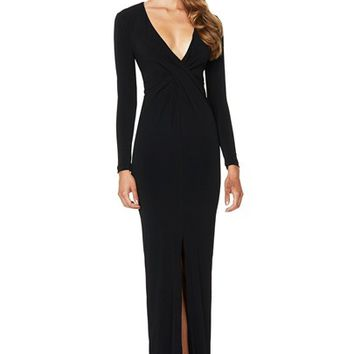 MONROE TWIST LONG SLEEVE MAXI : Buy Designer Dresses Online at Nookie