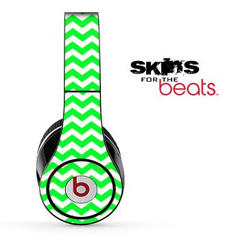 Lime Green Chevron Pattern Skin for the Beats by Dre Solo, Studio, Wireless, Pro or Mixr