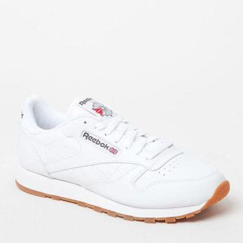 ONETOW Reebok Classic Leather White Shoes at PacSun.com