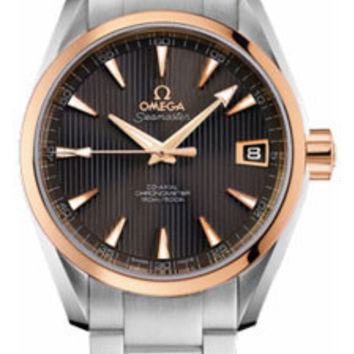 Omega - Seamaster Aqua Terra 150 M Co-Axial 38.5 mm - Steel And Red Gold