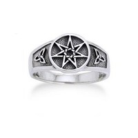Sterling Silver Faerie or Elven Star and Celtic Knot Ring Size 10(Sizes 4,5,6,7,8,9,10,11)