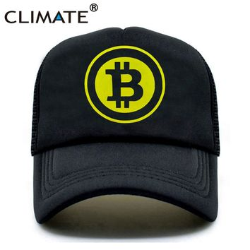Trendy Winter Jacket CLIMATE New Men Women Trucker Cap Hat BitCoin Bit Coin Mining Funny Caps Summer Hip Hop Mesh Cool Caps Hat for Men Women Youth AT_92_12