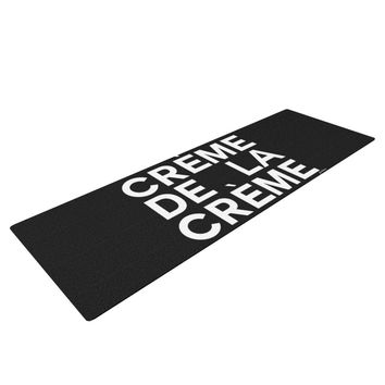 "Geordanna Cordero-Fields ""Creme De La Creme"" Black White Yoga Mat"