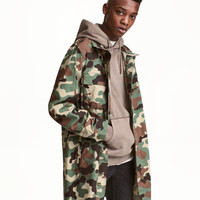 Long Poplin Cargo Jacket - from H&M