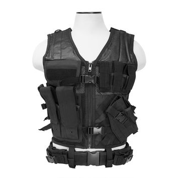 Tactical Vest Keeps Shooting Gear Organized for Easy Access [2XL+] - Black