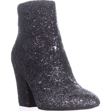 Nine West Savitra Ankle Boots, Silver/Black, 8 US
