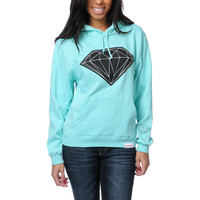 Diamond Supply Girls Big Brilliant Mint Pullover Hoodie