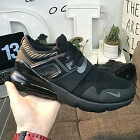 NIKE AIR MAX 270 Trending Me Stylish Air Cushion Sport Running Shoe Sneakers Full Black I-A50-XYZ