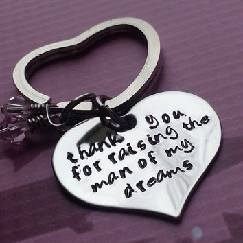 Hand Stamped KeyChain thank you for from CustomSignsandStamps on