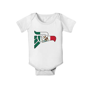 Hecho en Mexico Eagle Symbol - Mexican Flag Baby Romper Bodysuit by TooLoud