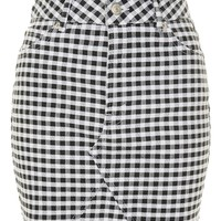 PETITE Gingham Short Line Skirt - Skirts - Clothing