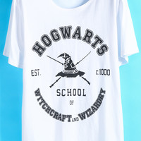 Letters Print Loose T-Shirt