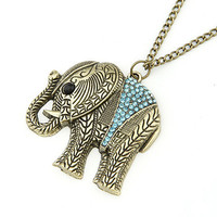 Diamond Elephant Necklace Necklace For Women (gift)
