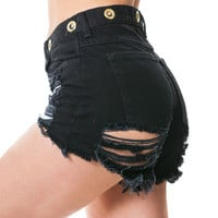 Women Tassel Sexy Loose Jeans Nightclub Clubbing Party Erotic Ripped Shorts Trousers Pants _ 13426