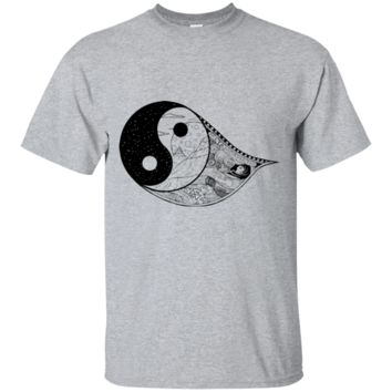 Gothic Yin-Yang, Sky, Mountains And Parchment Ultra Cotton T-Shirt