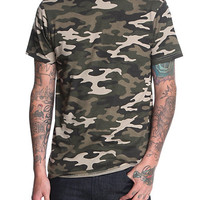RUDE Green Camo Slim-Fit T-Shirt
