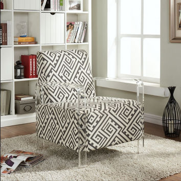 Lavo Black and White Accent Chair