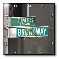 3dRose dpp_4393_2 Times Square Broadway-Wall Clock, 13 by 13-Inch