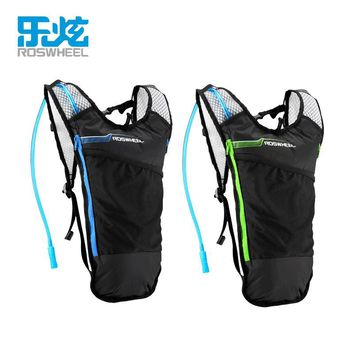 Roswheel light Cycling Bicycle Bike Shoulder Backpack Outdoor Running Hydration Knapsack 5L Backpack + Water Bladder Bag
