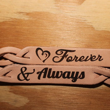 Forever and Always Leather Bracelet