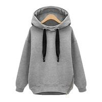 Estrendy Temperament Thick Fleece Hooded Sweater