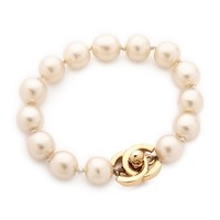 Chanel Imitation Pearl Turn Lock Bracelet (Previously Owned)