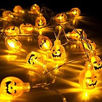 SUNPAUTO Halloween Pumpkin String Light,20 LED Decoration Lights for Outdoor, Home, Patio Garden