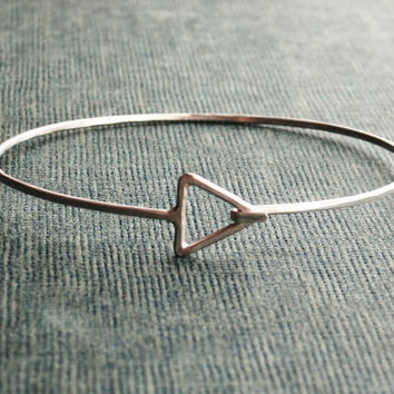 Triangle Sterling Silver Bangle