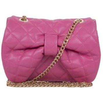RED Valentino Authentic Barbie Pink Bow Leather Chain Shoulder Bag