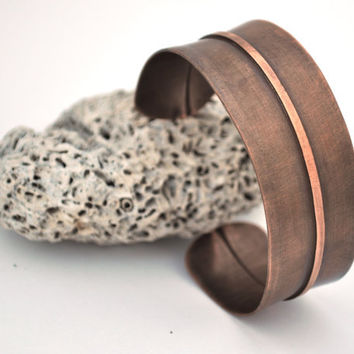Fold Formed Copper Cuff Bracelet