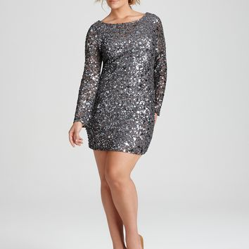 Plus Sequin Dress