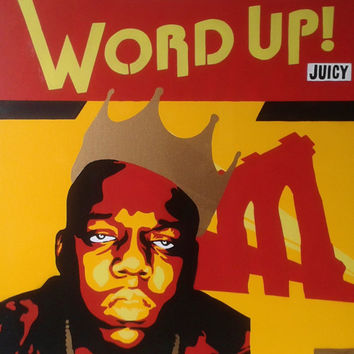 1 x DIGITAL DOWNLOAD,Biggie Smalls stencil canvas painting,hip hop,music,brooklyn,new york,america,graffiti,spray paint art,street art,king