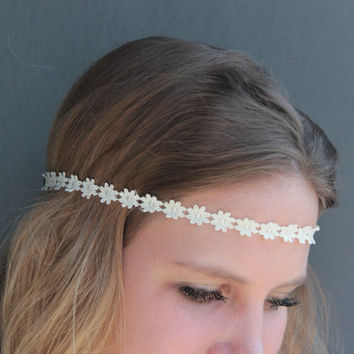 Tiny Flowers Crown Hippie Summer Music Festival Concert Boho Daisy Headband