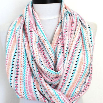 tribal viscose white  scarf,print scarf,long scarf,scarves,infinity scarf,scarf,