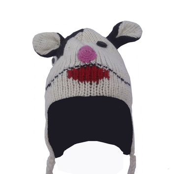 Wool Fleece Lined Ear Flap Sherpa Skiing Winter Hat (Nepal)