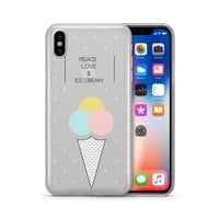 Peace, Love & Ice Cream - Clear Case Cover
