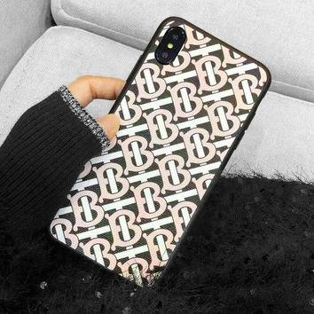 BURBERRY Stylish iPhone Phone Cover Case For iphone 6 6s 6plus 6s-plus 7 7plus iPhone X XR XS XS MAX 3#