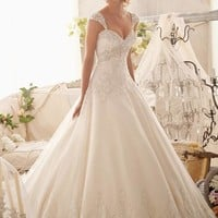 Mori Lee 2609 Beaded A-Line Wedding Dress
