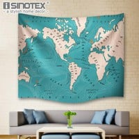 World Ocean Currents Wall Hanging Indian Mandala Tapestry Hippie Boho Bedspread Beach Towel Yoga Mat Blanket Table Cloth 4 Sizes