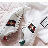 GUCCI Women Fashion Bee Sneakers Sport Shoes