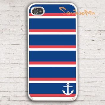iPhone 4 Case, Nautical Stripes anchor  iPhone 4 Case, palette Design iphone hard case for iphone 4, iphone 4S