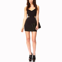 Black Cut-out Waist Bodycon Dress